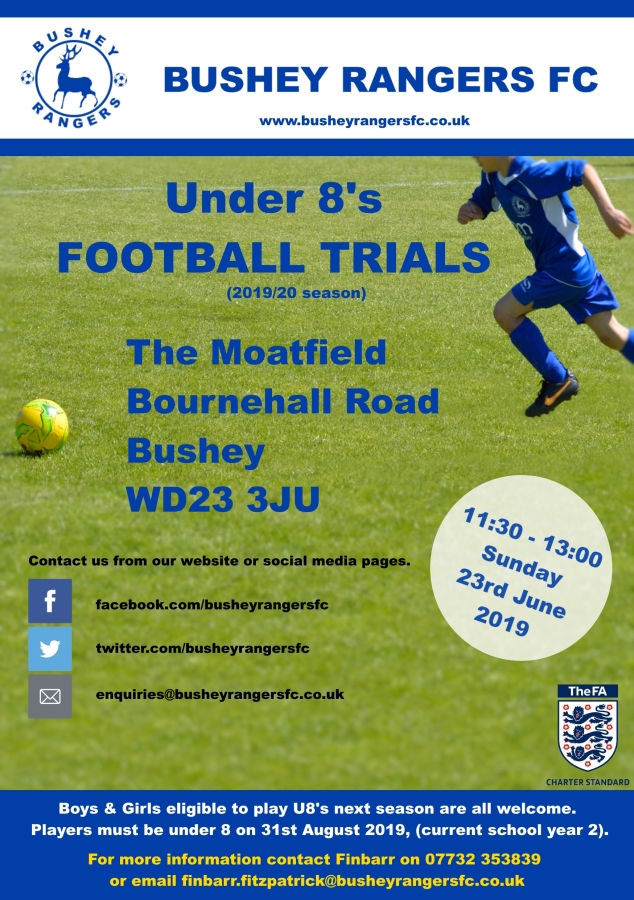 Under 15's Football Trials