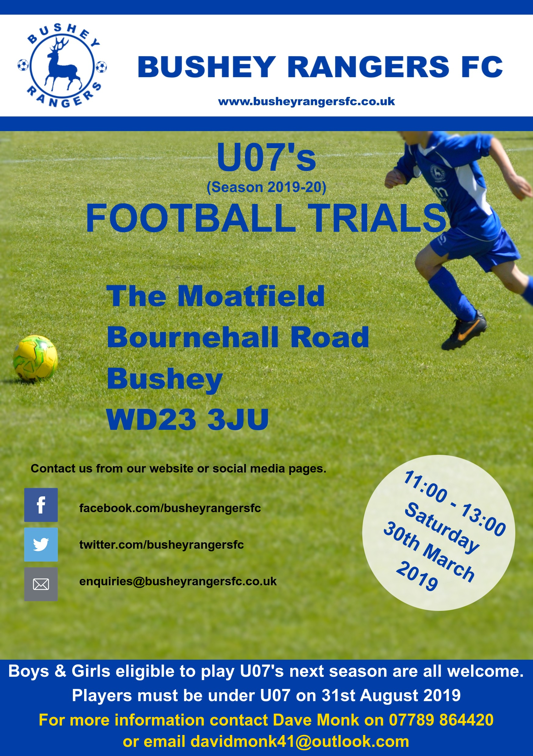 Under 07's Football Trials